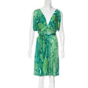 Diane von Furstenberg Silk blend Wrap Dress